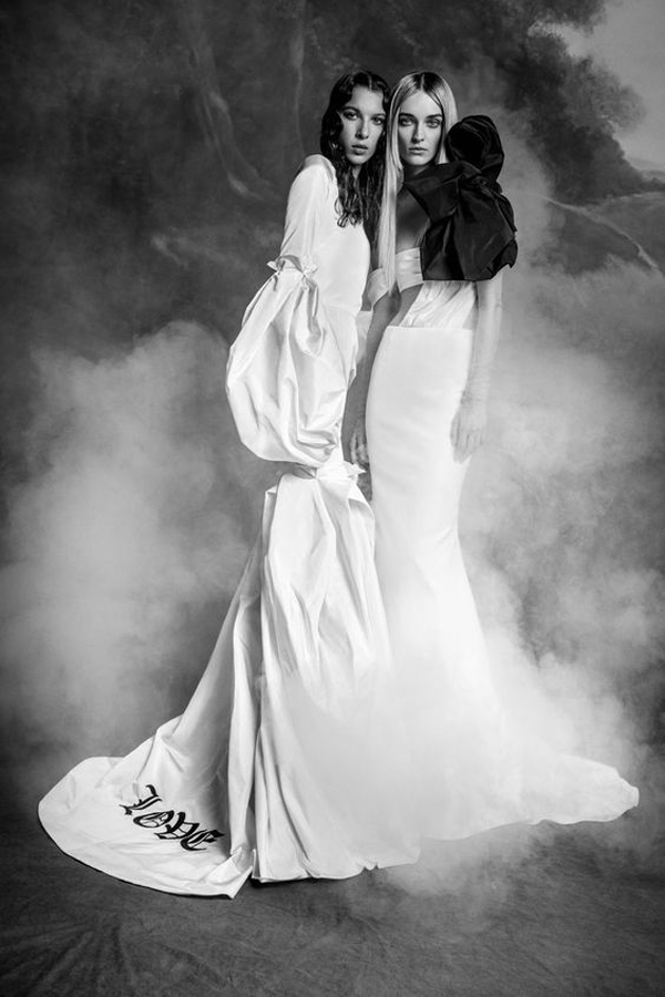 Love wedding dress by Vera Wang bridal fall 2020 wedding dress trend picked by destination wedding planner Mango Muse Events