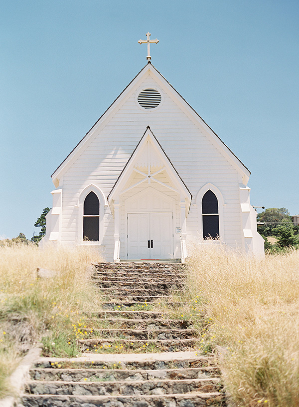 Historic Old St. Hilary's church in Tiburon wedding venue for intimate weddings by Bay Area wedding planner Mango Muse Events and Let's I Do this small wedding packages for intimate micro weddings