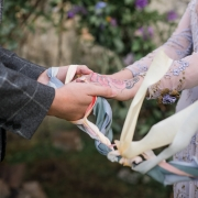 Handfasting wedding ceremony at a Scotland destination micro wedding in the Isle of Skye by destination wedding and elopement planner Mango Muse Events